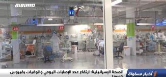 الصحة الإسرائيلية: ارتفاع عدد الإصابات اليومي والوفيات بفيروس كورونا،الكاملة،اخبار مساواة،21.07.2020