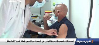 نسبة التطعيم بالجرعة الأولى في المجتمع العربي تبلغ نحو 22 بالمئة،اخبارمساواة،12.02.2021،مساواة