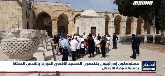 أخبار مساواة: مستوطنون إسرائيليون يقتحمون المسجد الأقصى المبارك بالقدس المحتلة بحماية شرطة الاحتلال