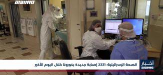 الصحة الإسرائيلية: 2331 إصابة جديدة بكورونا خلال اليوم الأخير