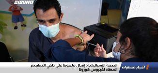 الصحة الإسرائيلية: إقبال ملحوظ على تلقي التطعيم المضاد لفيروس كورونا،اخبارمساواة14.2.21،مساواة