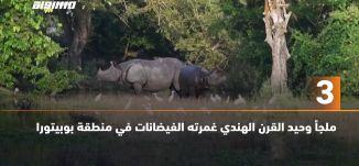 َ60 ثانية - ملجأ وحيد القرن الهندي غمرته الفيضانات في منطقة بوبيتورا،01.07.2020،قناة مساواة الفضائية