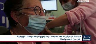 أخبار مساواة: الصحة الإسرائيلية: 129 إصابة جديدة بكورونا والفحوصات الإيجابية أقل من نصف بالمئة