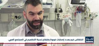 أخبار مساواة: انخفاض كبير بعدد إصابات كورونا وارتفاع نسبة التطعيم في المجتمع العربي