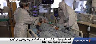 الصحة الإسرائيلية تتيح تطعيم المتعافين من فيروس كورونا ممن تجاوزت أعمارهم 16 عاما