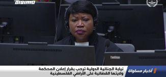 نيابة الجنائية الدولية ترحب بقرار إعلان المحكمة ولايتها القضائية على الأراضي الفلسطينية،اخبار،06.02