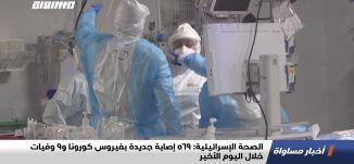الصحة الإسرائيلية: 569 إصابة جديدة بفيروس كورونا و9 وفيات خلال اليوم الأخير،اخبارمساواة،29.11.20