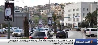 الهيئة العربية للطوارئ: ثلاثة عشر بالمئة من إصابات كورونا في البلاد هم من العرب،اخبارمساواة ،11.10