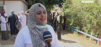 مراسلون مساواة :  باص التوعية .. جولة لتوعية السكان بتطعيم كورونا في غزة
