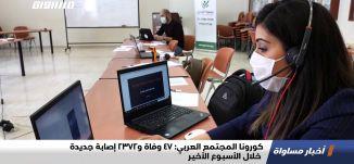 كورونا المجتمع العربي: 47 وفاة و2372 إصابة جديدة خلال الأسبوع الأخير،اخبارمساواة،29.1.21،قناة مساواة