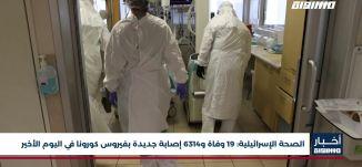 أخبار مساواة : الصحة الإسرائيلية .. 19 وفاة و6314 إصابة جديدة بفيروس كورونا في اليوم الأخير