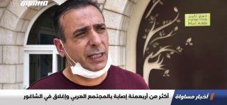 أكثر من أربعمئة إصابة بالمجتمع العربي وإغلاق في الشاغور،تقرير،اخبار مساواة،15.04.20