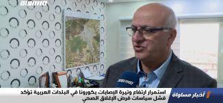 استمرارارتفاع وتيرة الإصابات بكورونا في البلدات العربية تؤكد فشل سياسات فرض الإغلاق الصحي،تقرير15.12