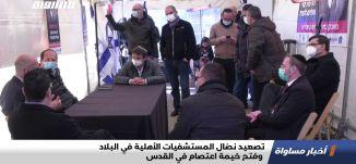 تصعيد نضال المستشفيات الأهلية في البلاد وفتح خيمة اعتصام في القدس،اخبارمساواة،17.1.21،مساواة