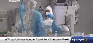 الصحة الإسرائيلية: 1866 إصابة جديدة بفيروس كورونا خلال اليوم الأخير،اخبارمساواة،20.12.20،قناة مساواة