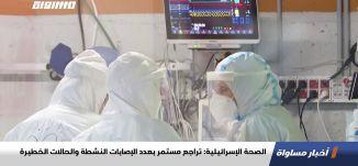 الصحة الإسرائيلية: تراجع مستمر بعدد الإصابات النشطة والحالات الخطيرة،اخبارمساواة،22.10.2020،مساواة