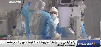 رقم قياسي جديد بإصابات كورونا: نسبة الإصابات بين العرب ضعف نسبة عدد السكان،اخبارمساواة،08.09