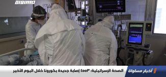 الصحة الإسرائيلية: 4553 إصابة جديدة بكورونا خلال اليوم الأخير،اخبارمساواة،21.02.2021،قناة مساواة