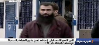 نادي الأسير الفلسطيني: إصابة 15 أسيرا بكورونا وارتفاع الحصيلة في سجون الاحتلال إلى 265،اخبار،20.01