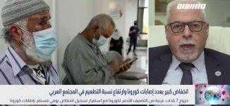 بانوراما مساواة: انخفاض كبير بعدد إصابات كورونا وارتفاع نسبة التطعيم في المجتمع العربي
