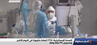 الصحة الإسرائيلية: 7668إصابة بكورونا في اليوم الأخير وتسجيل 34 حالة وفاة،اخبارمساواة،28.01.21،مساواة