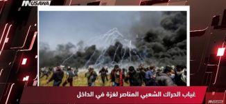 موقع ثمانية وأربعون : غياب الحراك الشعبي المناصر لغزة في الداخل!،مترو الصحافة، 16.4.2018