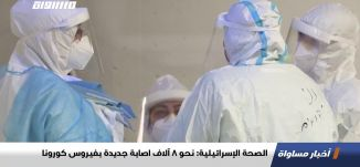 الصحة الإسرائيلية: نحو 8 آلاف اصابة جديدة بفيروس كورونا،اخبارمساواة،22.01.2021،مساواة