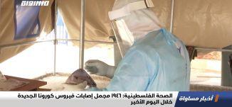 الصحة الفلسطينية:1946 مجمل إصابات فيروس كورونا الجديدة خلال اليوم الأخير،اخبارمساواة،24.11.20،مساواة