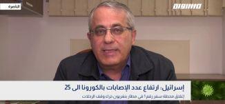 إسرائيل: ارتفاع عدد الإصابات بالكورونا الى 25 ،د. نائل الياس،بانوراما مساواة،08.03.2020