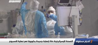الصحة الإسرائيلية: 815 إصابة جديدة بكورونا مع نهاية الاسبوع ،اخبارمساواة،13.11.2020،قناة مساواة