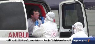 الصحة الاسرائيلية: 831 إصابة جديدة بفيروس كورونا خلال اليوم الأخير،اخبارمساواة،04.11.2020،مساواة