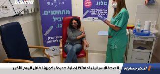 الصحة الإسرائيلية: 3498 إصابة جديدة بكورونا خلال اليوم الأخير،اخبارمساواة،28.12.20،مساواة