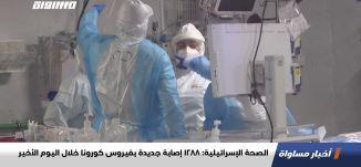 الصحة الإسرائيلية: 1288 إصابة جديدة بفيروس كورونا خلال اليوم الأخير،اخبارمساواة،13.12.20،قناة مساواة