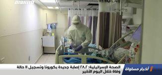 الصحة الإسرائيلية: 2802 إصابة جديدة بكورونا وتسجيل 11 حالة وفاة خلال اليوم الأخير،اخبارمساواة،17.12