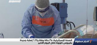 الصحة الإسرائيلية: 35 حالة وفاة و6062 إصابة جديدة بفيروس كورونا خلال اليوم الأخير،اخبارمساواة،10.02