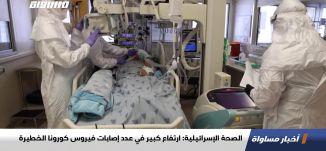 الصحة الإسرائيلية: ارتفاع كبير في عدد إصابات فيروس كورونا الخطيرة