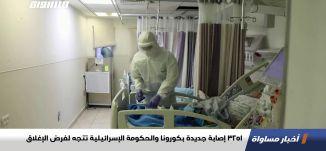 3251 إصابة جديدة بكورونا والحكومة الإسرائيلية تتجه لفرض الإغلاق،اخبارمساواة،23.12.2020،مساواة