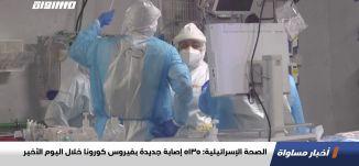 الصحة الإسرائيلية: 5135 إصابة جديدة بفيروس كورونا خلال اليوم الأخير،اخبارمساواة،04.01.2021،مساواة