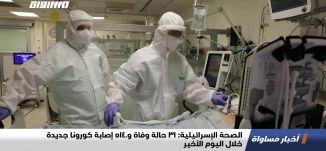 الصحة الإسرائيلية: 31 حالة وفاة و5140 إصابة كورونا جديدة خلال اليوم الأخير،اخبارمساواة،01.02.2021