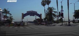 َ60 ثانية - سانتا مونيكا فارغة في نهاية الأسبوع بعد إغلاق شواطئ مقاطعة لوس أنجلوس ،05.07.2020