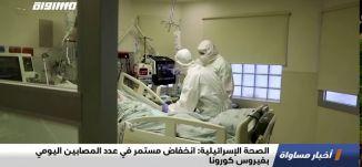 الصحة الإسرائيلية: انخفاض مستمر في عدد المصابين اليومي بفيروس كورونا،اخبارمساواة ،08.10.2020،مساواة