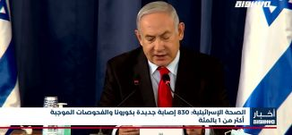 أخبار مساواة: الصحة الإسرائيلية: 830 إصابة جديدة بكورونا والفحوصات الموجبة أكثر من 1 بالمئة