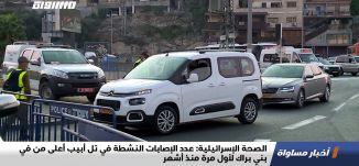 الصحة الإسرائيلية: عدد الإصابات النشطة في تل أبيب أعلى من في بني براك لأول مرة منذ أشهر،اخبار،29.10