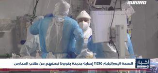أخبار مساواة : الصحة الإسرائيلية .. 11210 إصابة جديدة بكورونا نصفهم من طلاب المدارس